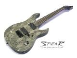 7-Saiter E-Gitarre Spear Gladius SS 7 Snake Skin