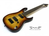 8-Saiter E-Gitarre Spear Gladius SP 8 Spalted Maple