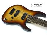 8-Saiter E-Gitarre Spear Gladius SP 8 Spalted Maple