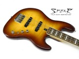 aktiver Spear E-Bass SJA-250 Brown Burst