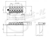 Roller Tremolo 2 Punkt-Aufhängung schwarz