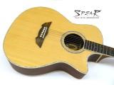 Western-Gitarre / Akustik-Gitarre Spear SC 70E, mit Tonabnehmer und EQ