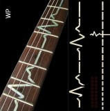 Jockomo Fretboard / Griffbrett Inlays, Decals EKG Line White Pearl
