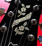 Jockomo Inlay Sticker / Headstock Decal  De Luxe Flowers