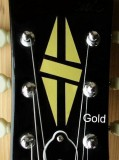 Jockomo Inlay Sticker / Headstock Decal Diamond Hatch (GOLD)