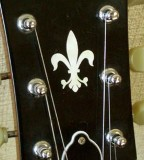 Jockomo Inlay Sticker /  Headstock Decal Fleur de Lys