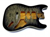 Korpus/Body I Mahagoni transparent Black Burst, Quilted Maple Top
