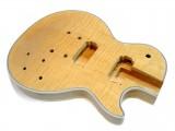 E-Gitarren-Bausatz MLP Flamed Maple Top Custom Mahagoni ohne Hardware
