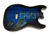 Korpus/Body I Esche transparent Blue Burst, 2. Wahl