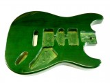 E-Gitarren-Bausatz MLS transparent grün, Esche/Ahorn ohne Hardware