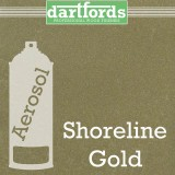 Nitrocellulose Lack Spray / Aerosol Shoreline Gold  Metallic 400ml