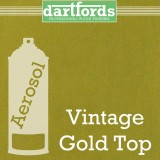 Nitrocellulose Lack Spray / Aerosol Vintage Gold Top Metallic 400ml