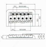 Universal-Bridge BN 101 schwarz für String Through Saitenführung