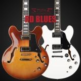 E-Gitarre Spear RD-BLUES transparent rot, Vorführmodel