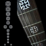 Jockomo Fretboard / Griffbrett Inlays, Decals Iron Cross (Metallic)