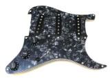 VIVA® Pickguard SSS Black/Black Pearl, fertig verdrahtet, Alnico V