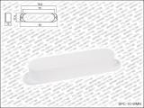 Allparts Single Coil Cover / Single Coil Kappe geschlossen weiß