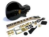 E-Gitarren-Bausatz MLP custom-Style Mahagoni schwarz lackiert