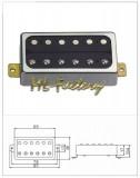 Vintage Style Humbucker ML-Factory Bridge chrom/schwarz 1