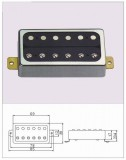 Vintage Style Humbucker ML-Factory Neck chrom/schwarz 1