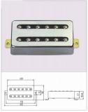 Vintage Style Humbucker ML-Factory Bridge chrom/schwarz 3