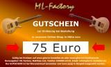 Geschenk, 75 Euro Geschenkgutschein - Gutschein für Gitarrenshop