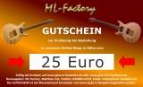 Geschenk, 25 Euro Geschenkgutschein - Gutschein für Gitarrenshop