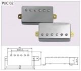 Humbucker, Hals-Position chrome incl. schwarzem Rahmen